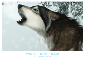 Winter Howl -- Detail by sugarpoultry