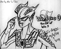 Ultraman Zero, kid of Window 7 by sw-eden