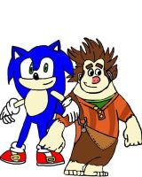 Sonic and Wreck-It Ralph by tanlisette