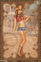 Pinups - Classic Cowgirl by warbirdphotographer