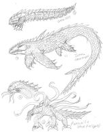 Kaiju Concept Sketches 12 by JacobMatthewSpencer