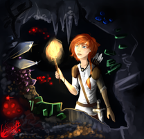 Secrets of the Cave  - Art Trade by TheHomicidalPigeon