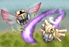 Ninjask and Shedinja by Nalenthi