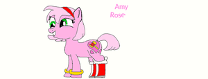 My little Sonic: Amy Rose by poppetrocks278