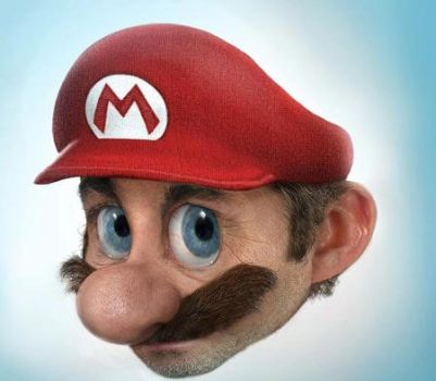 Super Mario Bros Real Face by softendo
