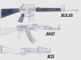 Vietnam weapons by GriffinDogR34
