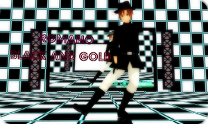 [MMDVideo]Romano- :BLACK AND GOLD: by ppgluver125
