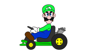 Luigi Death Stare by Imagine23
