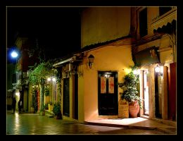 Night In Corfu City by skarzynscy