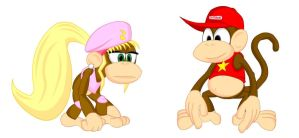 Diddy and Dixie Kong by LegendaryFrog