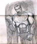 Pencil drawing for airbrush Superman''Red son'' T. by antgarcia
