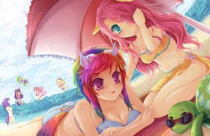 MLP:FiM - Summer Days -edit- by oceantann