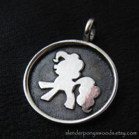 Silver Pinkie Pie pendant by Sulislaw