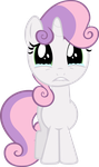 Sweetie Belle Crying by Ocarina0fTimelord