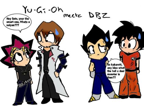 dbz meets yugioh by cloanime770