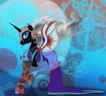 Nightmare Moon Steampunk Empress by bunnimation