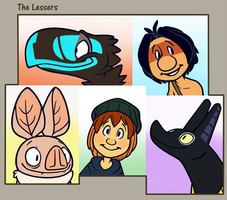 Lessers collage by the-fox-after-dark