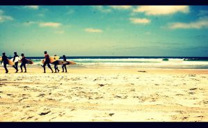 Six Surfers.. by alysiacornish