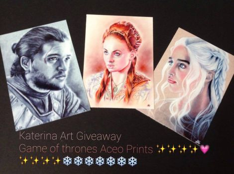 Game of Thrones Prints Giveaway Gift of LOVE by Katerina-Art