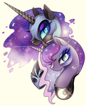 Princess Luna and Nightmare Moon by Sugar-Deer
