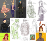 RWBY sketchdump September 2014 by LutherOMight
