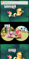 Ask Honest Applejack 33 by bronybyexception