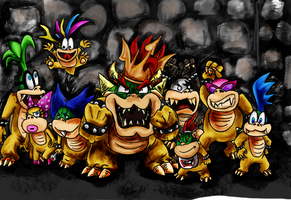 The Koopa Family by MacGargoyle