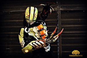 The Glitch Cyberpunk rogue reaper LIGHT UP costume by TwoHornsUnited
