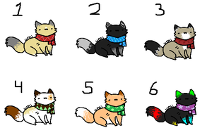 Scarf Kitty Adopts! .:CLOSED:. by QualiT-Adopts