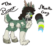 The-beast-Maaka-Gay Ref by TheTwistedCartoonist