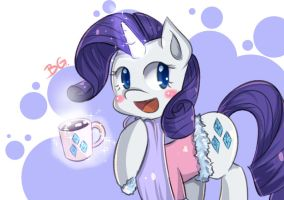 Rarity With Hot Coco by tikrs007