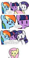 Mean ponies by Looji
