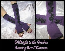 Midnight Garden Arm Warmers by ZenAndCoffee