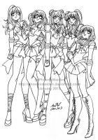 Saturn's Heroines by PhiMouse