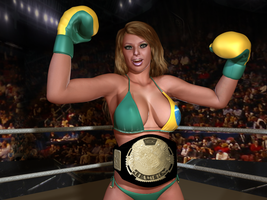 Brazilian Foxy Boxing Champion, Luiza Lima by cpunch