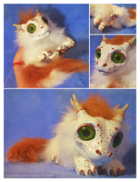 Freckled Rusty Drake doll by Isvoc