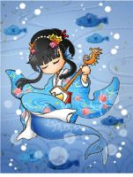 Mermaid Japanese style by Zzzeus