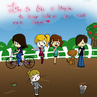 Life is like a bicycle... by TopHatical