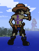 Minecraft Ace Statue by myvideogameworld