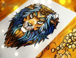 Color Lion (commission) by Stanislava-Korn
