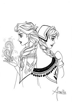 Frozen - The two sisters by MidwaySky