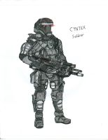 Cyntex Federation soldier by WMDiscovery93