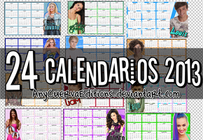 Pack Calendarios 2013 by AnyCuervaEditions