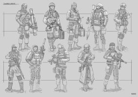 Soldier Sketches by Sarqful