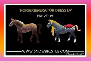 Horse Generator Preview by Snowbristle