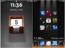 iphone theme - june by blacktern