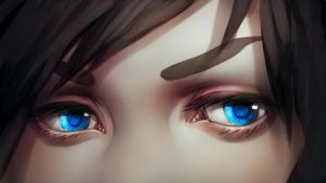 Painting anime eye...drawing by tincek-marincek