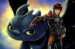Hiccup and Toothless by TyrineCarver