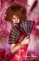 Japanese Costumes  Traditional___! by SK-DIGIART