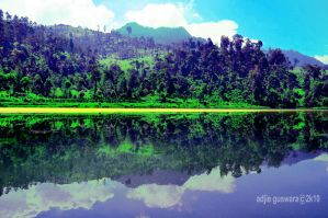 cisanti lake by adjieguswara-art